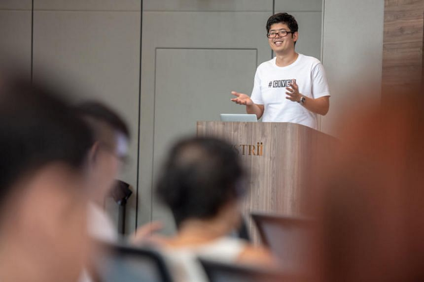 The Given Company's co-founder Mr Charles Tan at the official launch of the website on Aug 29, 2018.