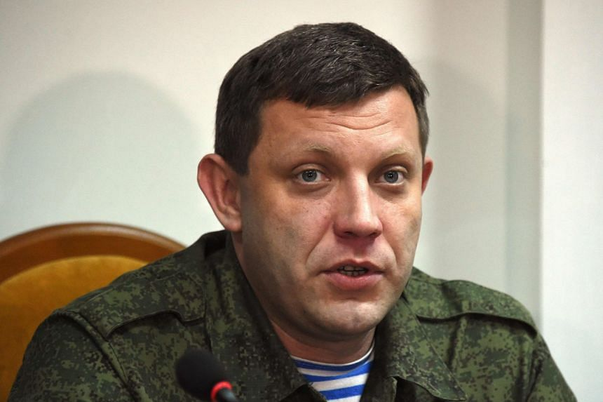 Businessman-turned-warlord Zakharchenko (above) was elected first president of the unrecognised republic in 2014.