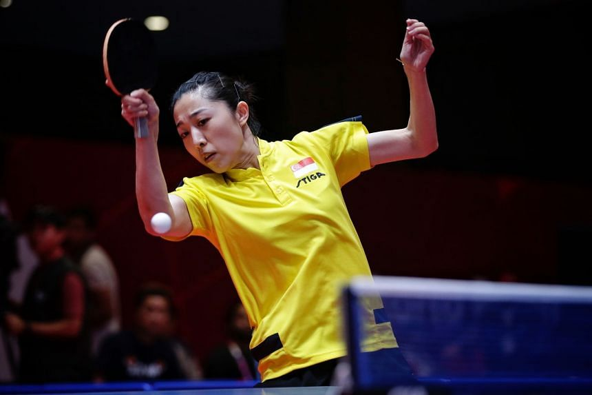 Yu Mengyu clinched at least a bronze medal in women's singles at the Asian Games after beating Chinese Taipei's Cheng I-ching in Jakarta, on Aug 31, 2018.