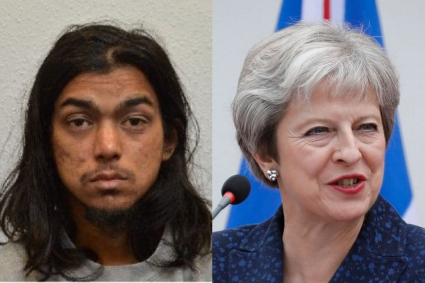 Rahman (left) planned to behead British PM Theresa May (right)