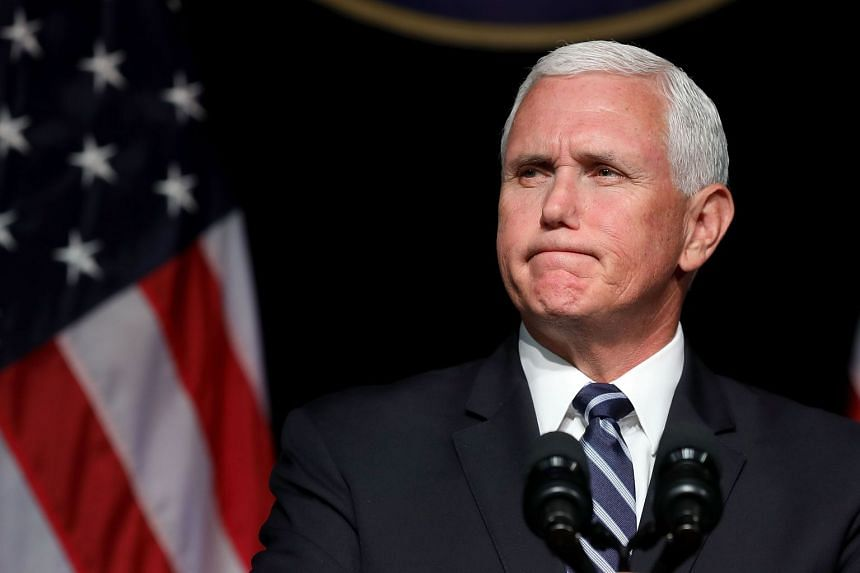 Vice-President Mike Pence (above) will attend in Trump's place, the White House said.