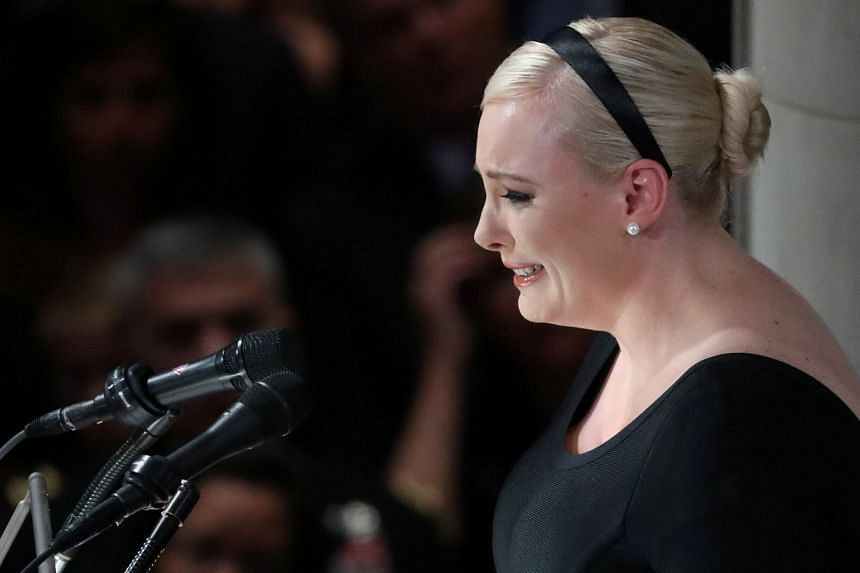 John McCain's daighter Meghan speaking at the memorial service for her father.