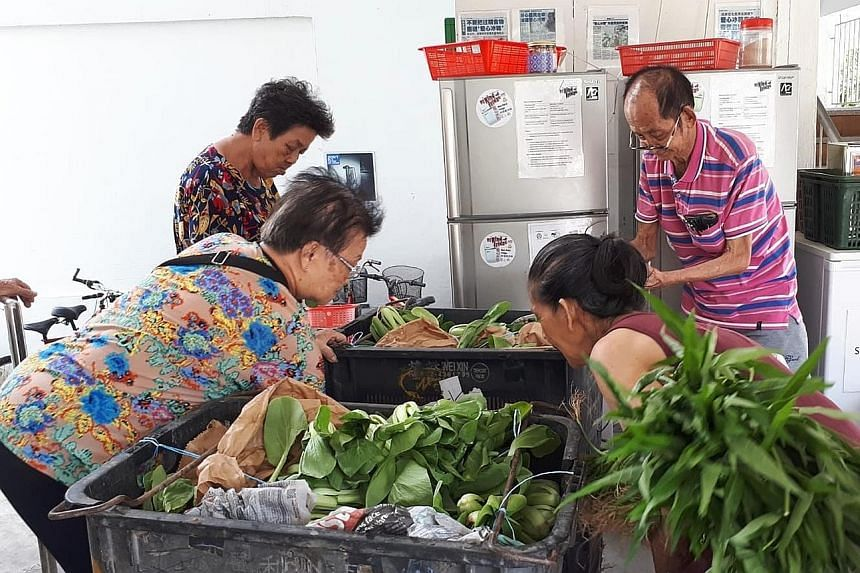 Under grassroots initiative My Kind Of Fridge, two full-sized refrigerators and one freezer stand at the void deck of Block 441 Tampines Avenue 10 for the public to donate fresh food for needy residents of Blocks 441 and 442.
