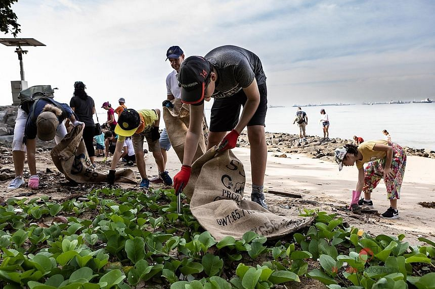 Clean-up organiser Thomas Peacock-Nazil, a financial adviser, estimates that several thousand kilograms of trash was removed from a 2km stretch of beach in the east yesterday.