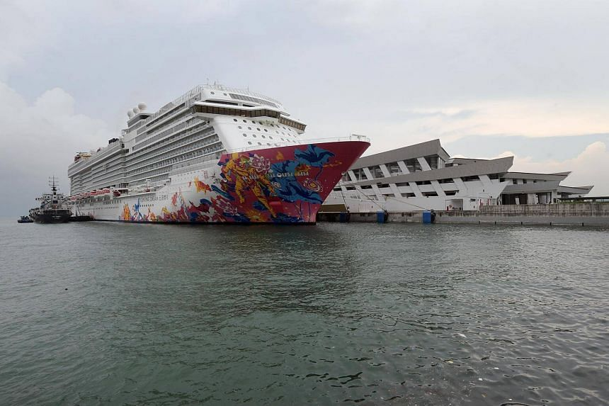 The Genting Dream docked at the Marina Bay Cruise Centre on Aug 24, 2018.