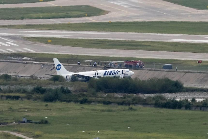 Officials said the Boeing 737, flying from Moscow with 166 passengers and six crew members, overshot a runway as it tried to land in the Black Sea resort city.