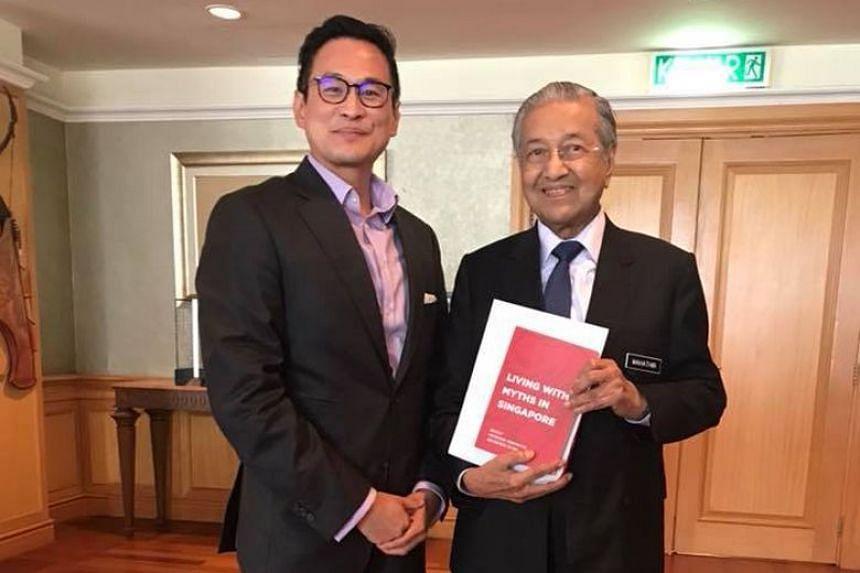 Dr Thum Ping Tjin met Malaysian Prime Minister Mahathir Mohamad in Putrajaya on Aug 30, 2018.