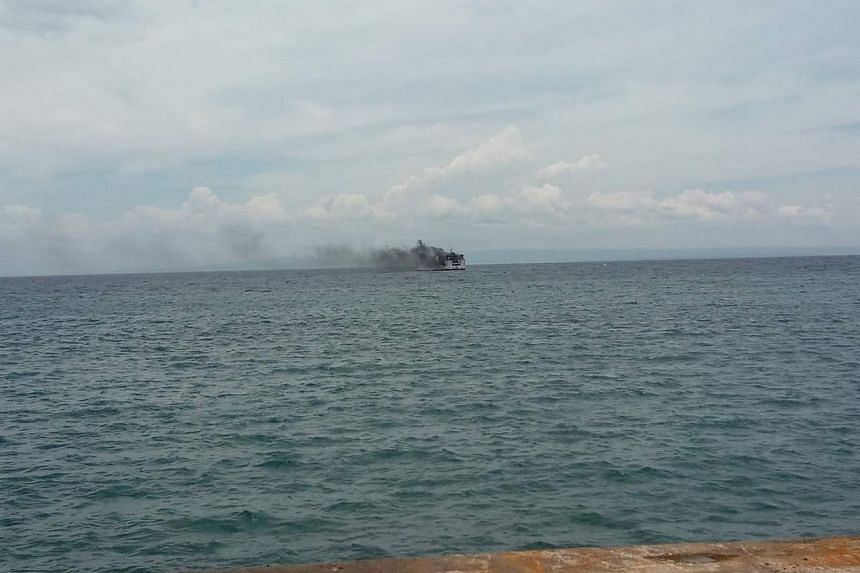 The ferry, which left Tagbilaran City in nearby Bohol province around 8am, was approaching Cebu when the incident occurred.