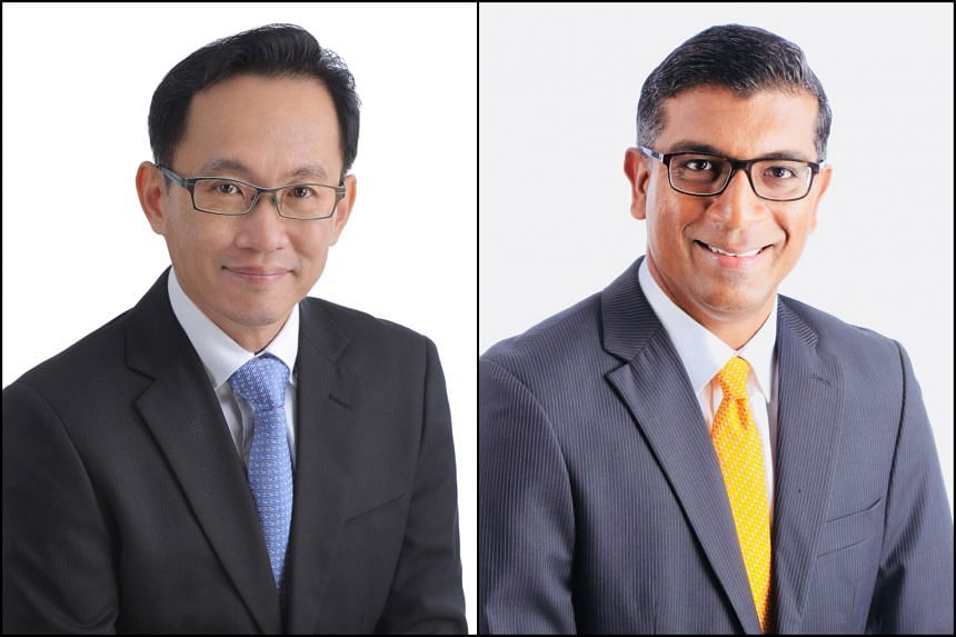 LGI multi-asset strategies head Herbert Wong (left) and senior portfolio manager S.K. Selvan who, between them have 53 years of experience in the finance industry, will share their expertise with 50 people.