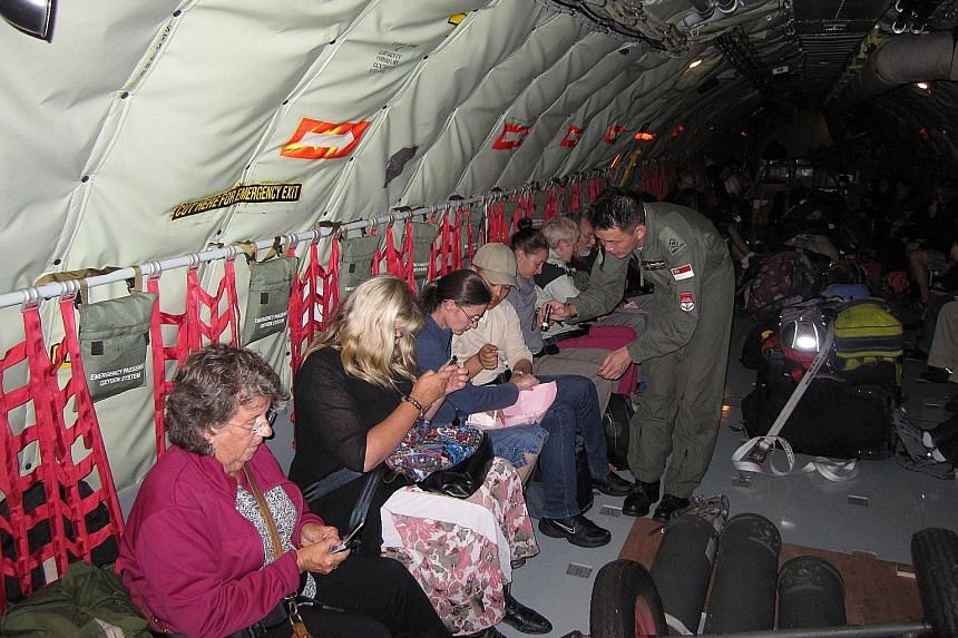The KC-135R aerial tanker was deployed to Christchurch, New Zealand, in February 2011 when an earthquake struck, and the crew evacuated civilians to Auckland.