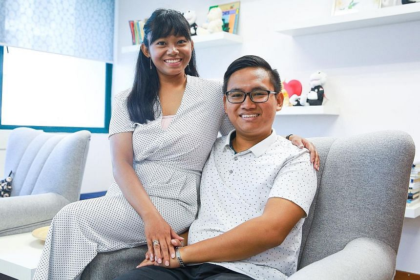 Ms Adawiya Omar, 22, married her husband Aidil Amzah, 24, when she was 20. They attended a marriage preparation programme to help learn how to overcome challenges together.