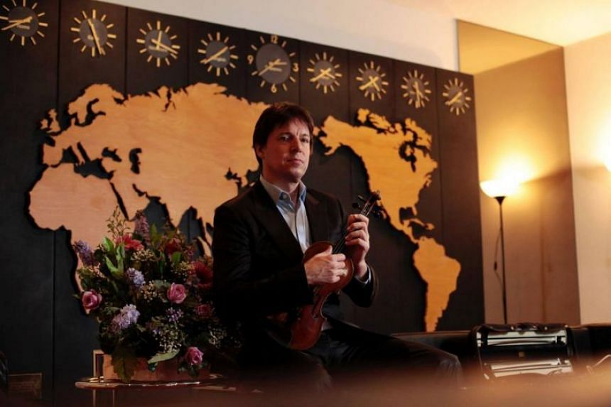 American violinist Joshua Bell ahead of his concert with the Singapore Chinese Orchestra.