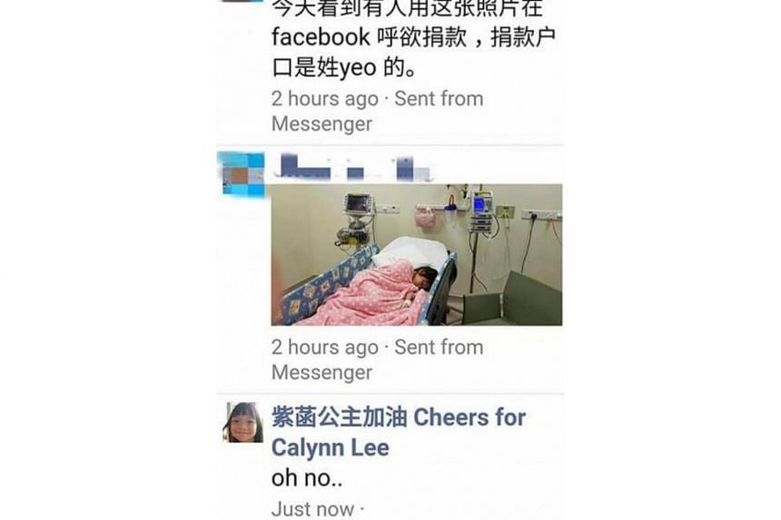 Actor Mark Lee and his wife Ms Catherine Ng said on social media last week that a Facebook post soliciting donations using a photograph of their sick daughter was a scam.