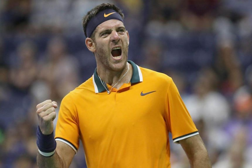 Juan Martin del Potro (pictured) broke Borna Coric in the final game of the opening set, and from there he was in control in a match played to the accompaniment of cheers and chants from his supporters.