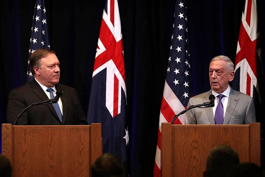 US Secretary of State Mike Pompeo (left) and Secretary of Defence James Mattis have to tiptoe around President Trump's indiscretions while trying to preserve and improve the US' relationship with India.