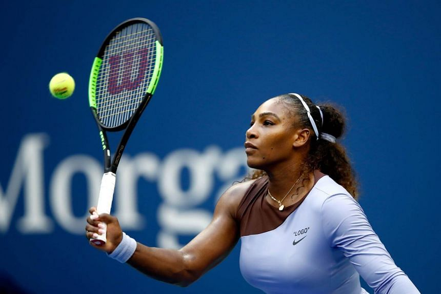 Serena Williams during her women's singles fourth round match on day seven of the 2018 US Open at the USTA Billie Jean King National Tennis Center on Sept 2, 2018, in the Flushing neighborhood of the Queens borough of New York City.