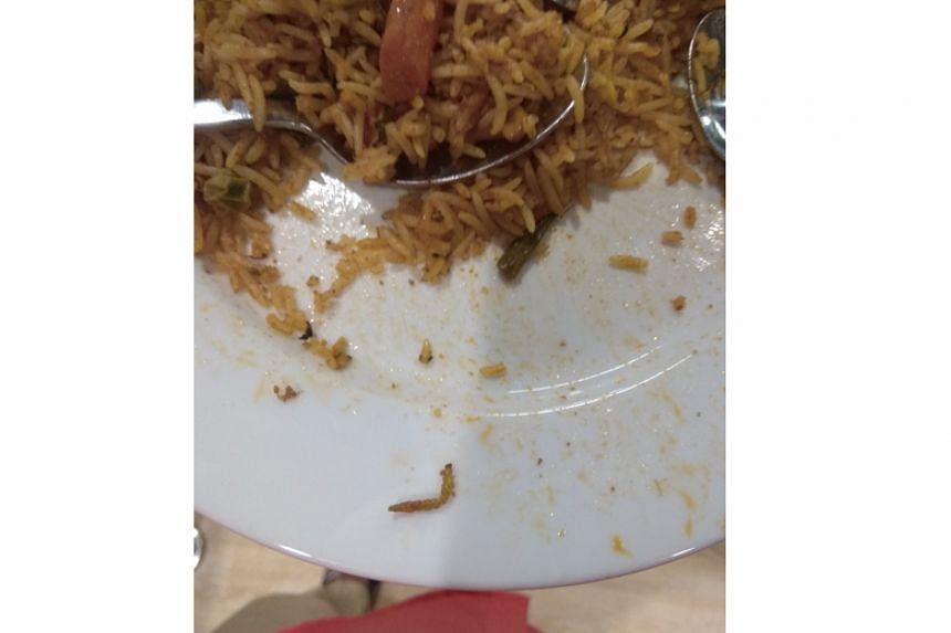 Customer Abeed Mohammad tweeted photos of the caterpillar in the vegetable biryani dish that he ordered at Ikea's store in Hyderabad.