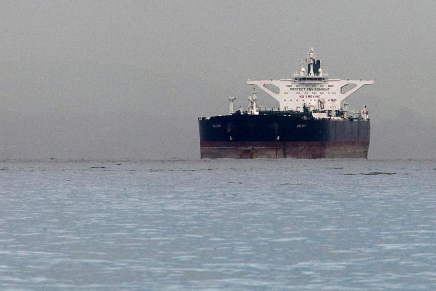 "File photo of Malta-flagged Iranian crude oil supertanker ""Delvar"", seen on March 1, 2012."