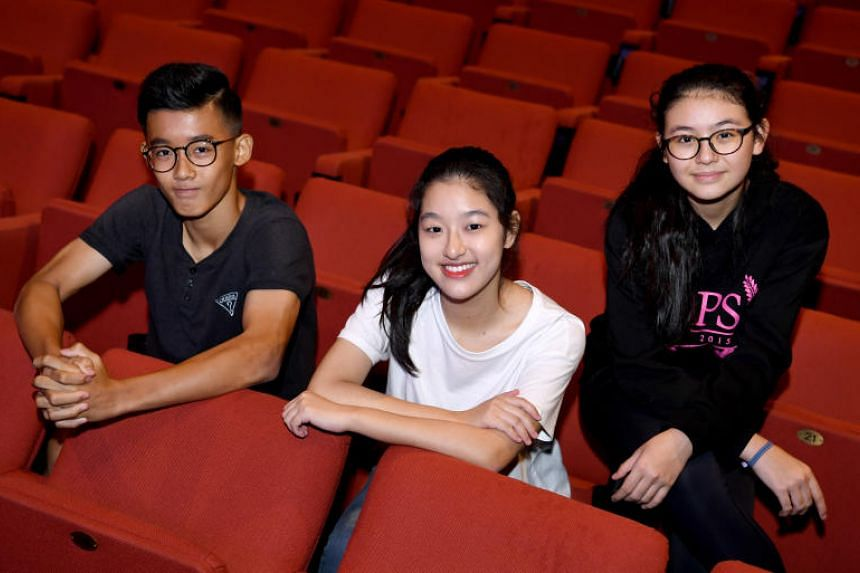 Beatboxer Brisel Choo, 14, and singers Ashley New, 16, (left) and Melissa Hecker, 13, will be performing in this year's ChildAid concert in November. Brisel and Ashley are newcomers to the concert, while this will be Melissa's third ChildAid conc