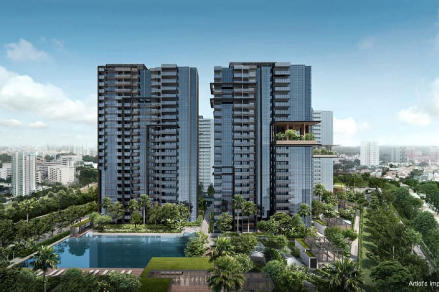 An artist's impression of JadeScape, which is being built on the former Shunfu Ville site in Bishan.