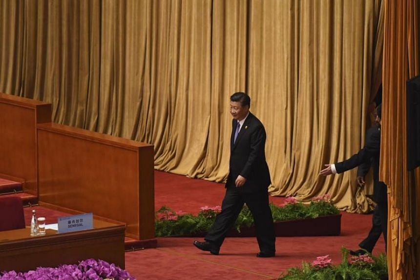 China's President Xi Jinping arrives at the opening ceremony of the Forum on China-Africa Cooperation at the Great Hall of the People in Beijing, on Sept 3, 2018.