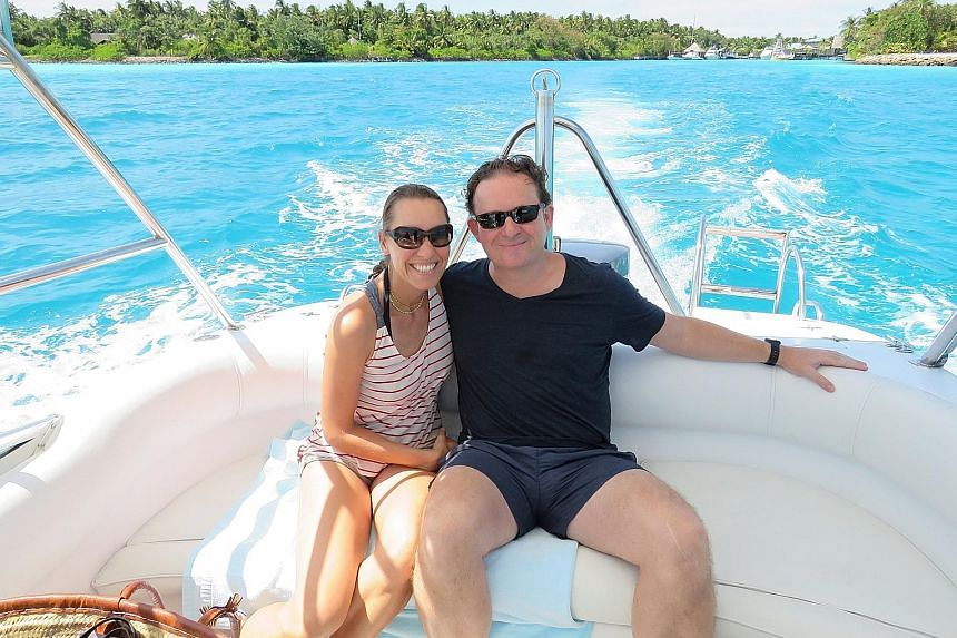 Mr James Lohan and wife Tamara on holiday in the Maldives. A bad experience prompted them to start the Mr & Mrs Smith hotel guide.