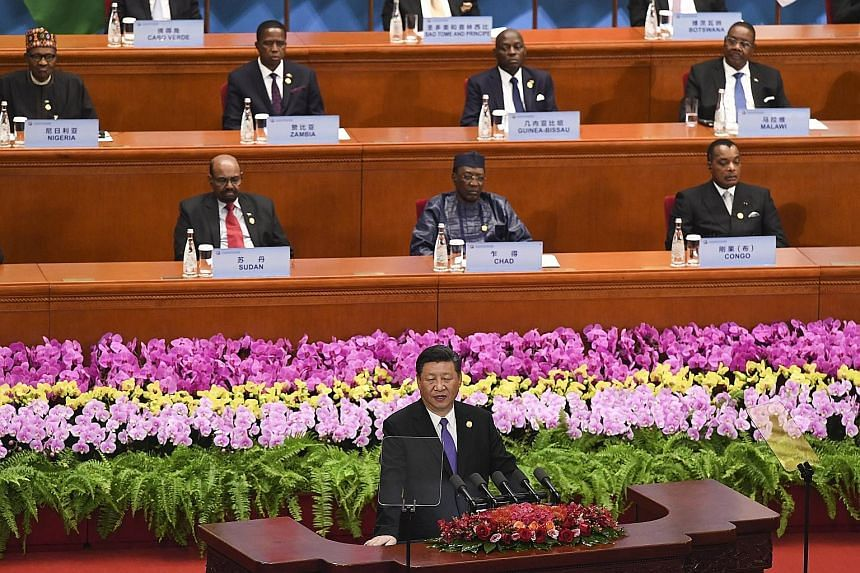 "Chinese President Xi Jinping, speaking at the opening of the Forum on China-Africa Cooperation at the Great Hall of the People in Beijing yesterday, said China was Africa's ""good friend, good partner, and good brother""."