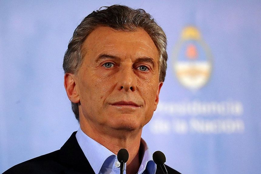 """Argentina's President Mauricio Macri said the country is facing """"an emergency""""."""