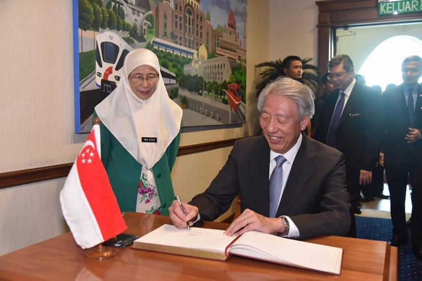 Deputy Prime Minister Teo Chee Hean (right) will be stopping in Kuala Lumpur, Kuching and Kota Kinabalu during his working visit in Malaysia from Sept 4 to Sept 9, 2018.
