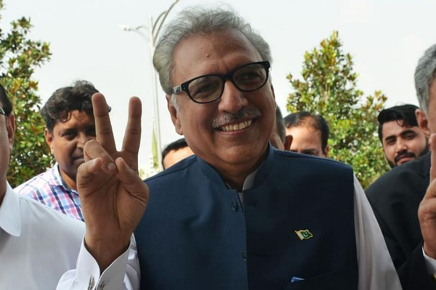Leader of Pakistan's ruling Tehreek-e-Insaf party Arif Alvi (above) will replace Mamnoon Hussain after the vote by more than 1,000 lawmakers from both houses of parliament and the four provincial assemblies.