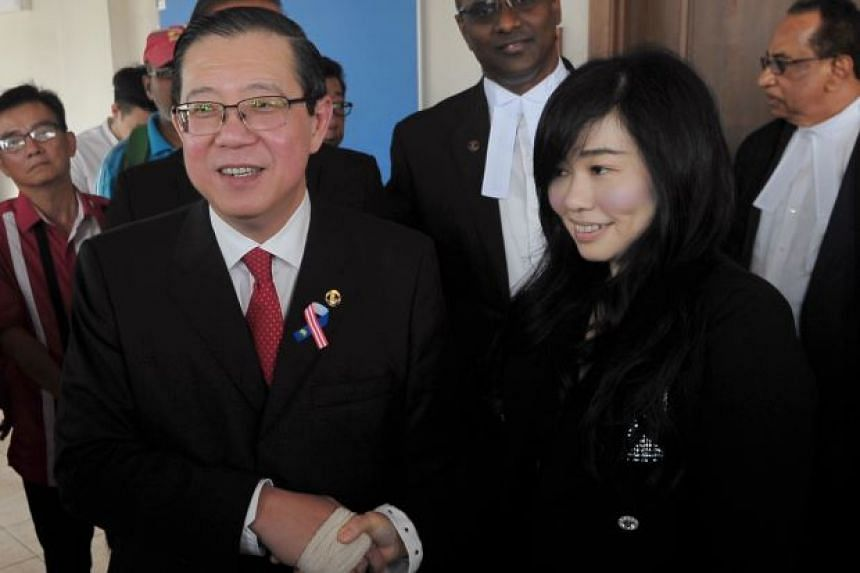 Malaysian Finance Minister Lim Guan Eng and businesswoman Phang Li Koon after being acquitted of corruption charges on Sept 3, 2018.