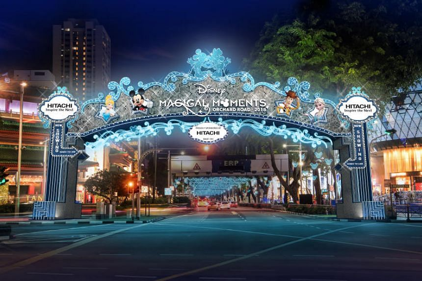 This year's Christmas light-up at Orchard Road will feature familiar characters such as Ariel from The Little Mermaid, Woody from Pixar's Toy Story and Mickey Mouse.