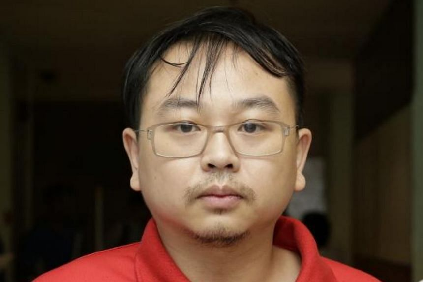 Hsieh Teng-Chia, one of the Taiwanese men who were taken to locations in Geylang and Parklane shopping centre in the police probe, on July 19, 2017.