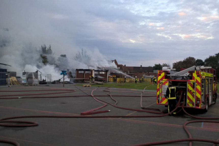 It is unknown whether there was anyone at the primary school when the fire broke out.