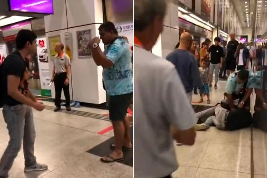 A video of the two men engaged in a brawl, around two minutes long, was uploaded onto citizen journalism website Stomp on Sept 3.