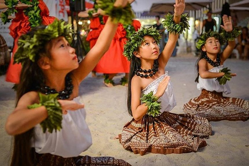 The line-up of activities and performances includes a hula showcase.