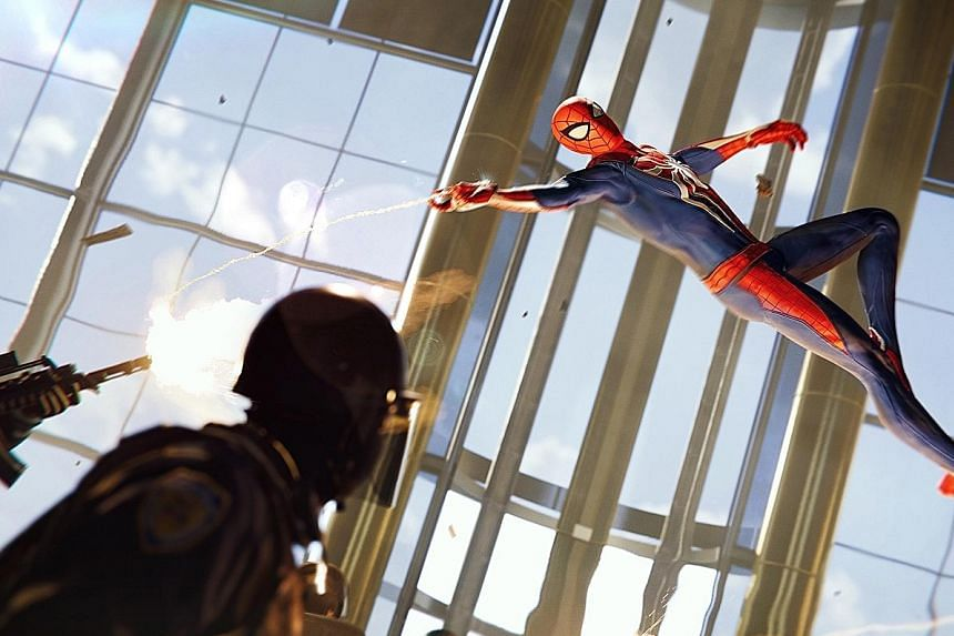 With excellent controls, you feel like a superhero as you swing and leap from building to building as Spider-Man.