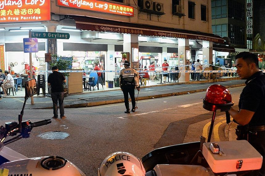 The accident in Geylang occurred at about 11.10pm on Sept 19, 2014.