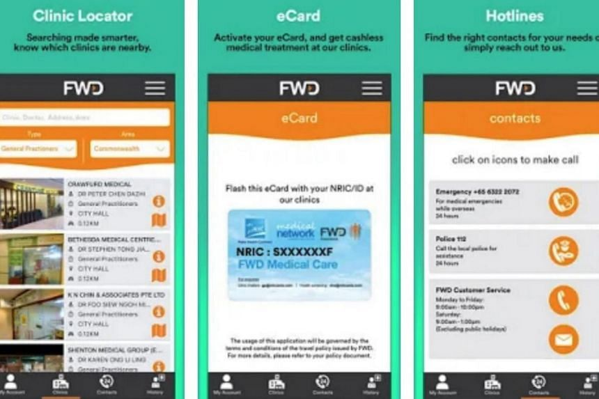 The FWD Flyer is a mobile application which allows travellers to make cashless medical claims.