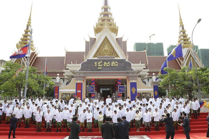 Elected MPs from the ruling Cambodian People's Party during the opening ceremony of a new session of Parliament at the National Assembly in Phnom Penh, Cambodia, on Sept 5, 2018.