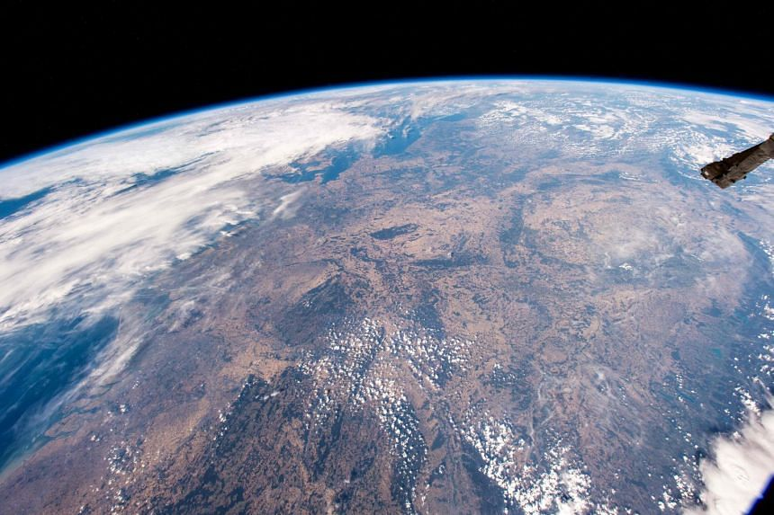 A view of the earth captured by an ISS astronaut in August 2018.