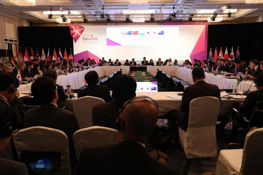 The 6th Regional Comprehensive Economic Partnership Ministerial Meeting, part of the 50th ASEAN Economic Ministers' Meeting, was held at the Shangri-la Hotel, on Aug 30, 2018.
