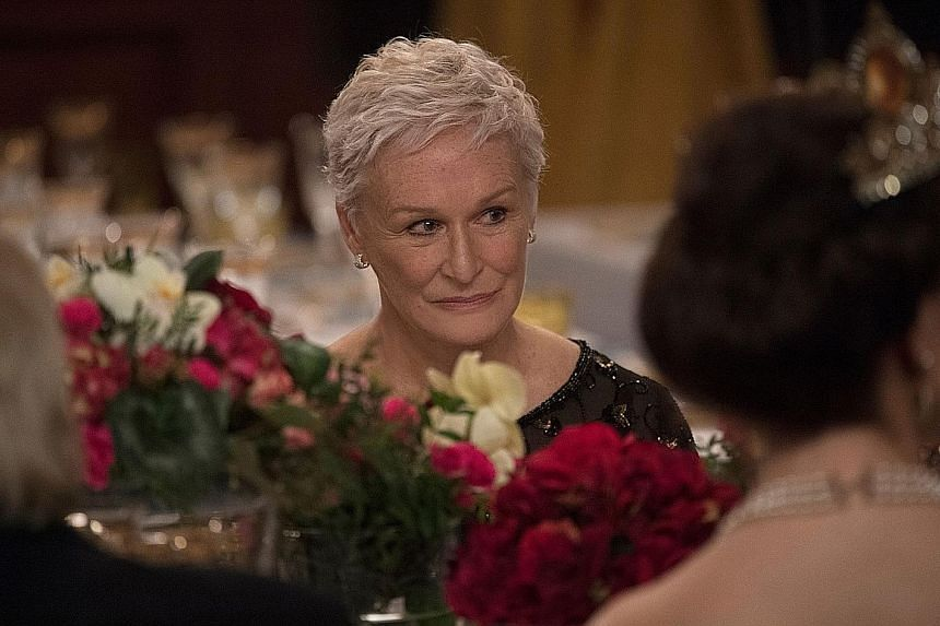 Glenn Close plays Joan, a devoted spouse to a genius husband, in The Wife.