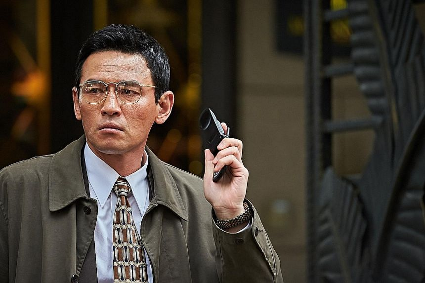 Chameleonic Hwang Jung-min is well cast as South Korean spy Park Seok-young.