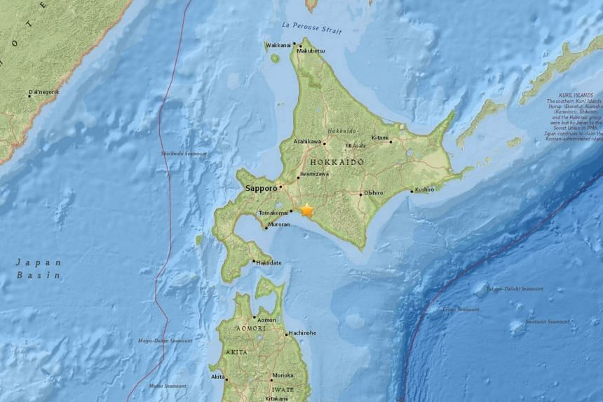 The quake, which struck at 3.08am local time (2.08am Singapore time) had a magnitude of 6.7, the Japan Meteorological Agency (JMA) said.