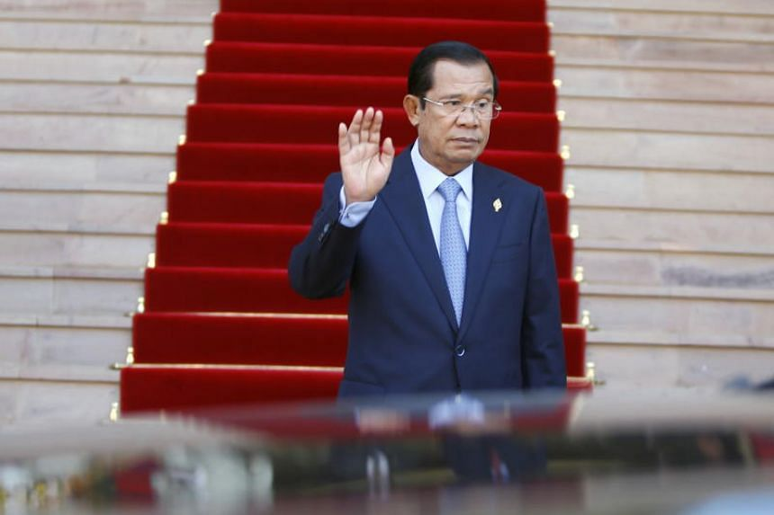 Cambodian Prime Minister Hun Sen leaving the National Assembly after a plenary session in Phnom Penh on Sept 6, 2018.