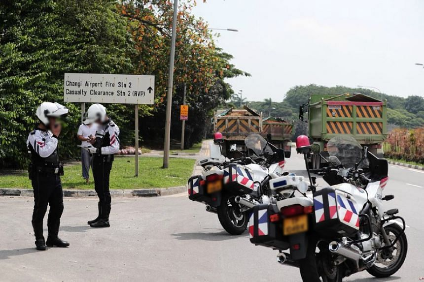 The Traffic Police conducted an islandwide enforcement operation against errant heavy vehicle drivers on Sept 6, 2018. Within two hours, the fleet of nine officers issued summonses against 60 heavy vehicle drivers for various offences including speed