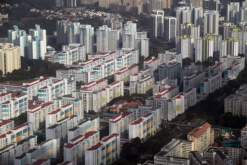 August's resale prices of Housing Board executive flats rose by 3.5 per cent.