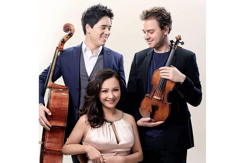 Alexander Sitkovetsky (right), Wu Qian (centre) and Isang Enders of the Sitkovetsky Trio.