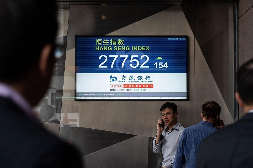 Major regional markets fell on Sept 5, 2018, with Hong Kong stocks taking a big hit, falling 2.6 per cent.